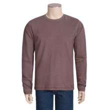 Jeremiah Clarke Crew Shirt - Long Sleeve, Jersey Cotton (For Men) in Eggplant - Closeouts