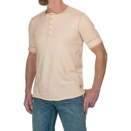 Jeremiah Cotton Jersey Henley Shirt - Short Sleeve (For Men) in Alfredo - Closeouts