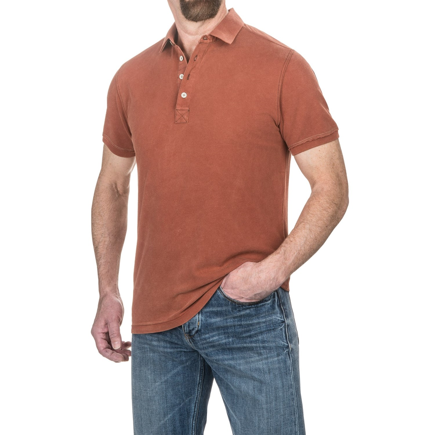 Jeremiah cotton polo shirt for men save 84 for Cotton polo shirts for men