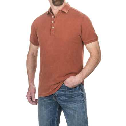 Jeremiah Cotton Polo Shirt - Short Sleeve (For Men) in Henna - Closeouts