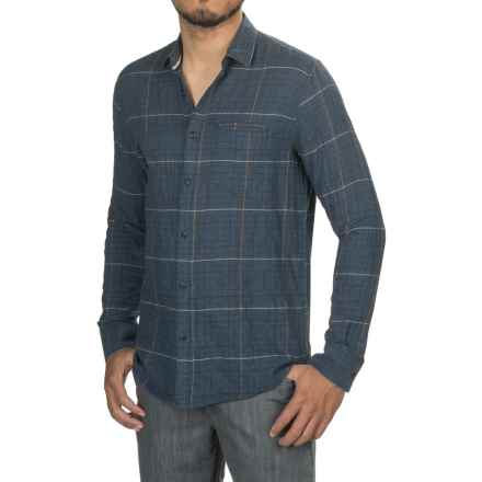 Jeremiah Dillon Pucker Twill Shirt - Long Sleeve (For Men) in Inkwell Heather - Closeouts