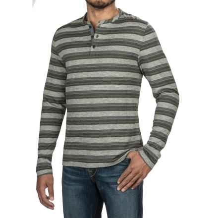 Jeremiah Glenn Twist Yarn Henley Shirt - Long Sleeve (For Men) in Abyss - Closeouts