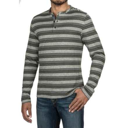 Jeremiah Glenn Twist Yarn Henley Shirt - Long Sleeve (For Men) in Abyss - Closeouts