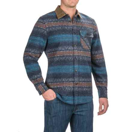 Jeremiah Hidalgo Blanket Stripe Shirt - Long Sleeve (For Men) in Inkwell - Closeouts