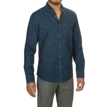 Jeremiah Kip Indigo Stripe Shirt - Long Sleeve (For Men) in Admiral - Closeouts