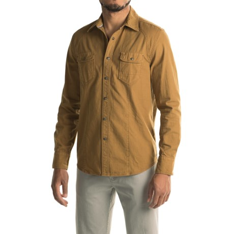 Jeremiah Knox Reversed Twill Shirt - Long Sleeve (For Men) in Durango