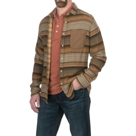 Jeremiah Lansing Heavy Twill Shirt Jacket - Reversible (For Men) in Ore
