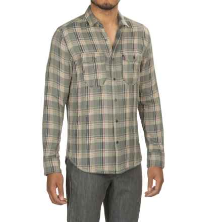 Jeremiah Melville Reversible Plaid Shirt - Snap Front, Long Sleeve (For Men) in Abyss - Closeouts