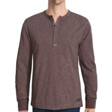 Jeremiah Mercer Henley Shirt - Two-Tone Cotton Jersey Slub, Long Sleeve (For Men) in Eggplant - Closeouts