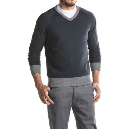 Jeremiah Nathan V-Neck Sweater (For Men) in Inkwell - Closeouts