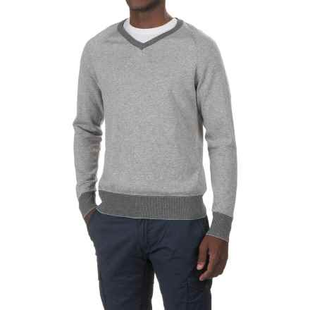 Jeremiah Nathan V-Neck Sweater (For Men) in Pewter Heather - Closeouts