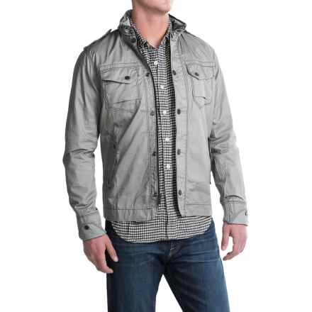 Jeremiah Portland Jacket - Coated Cotton Twill (For Men) in Silver - Closeouts