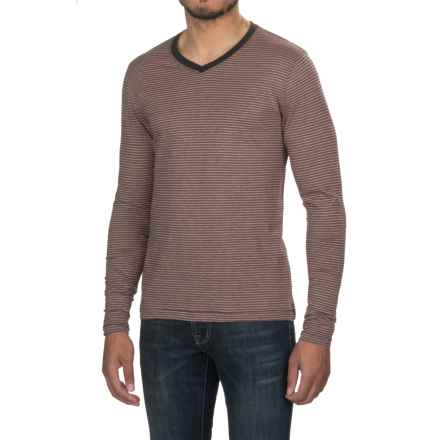 Jeremiah Prescott Twist Yarn Shirt - V-Neck, Long Sleeve (For Men) in Red Velvet - Closeouts
