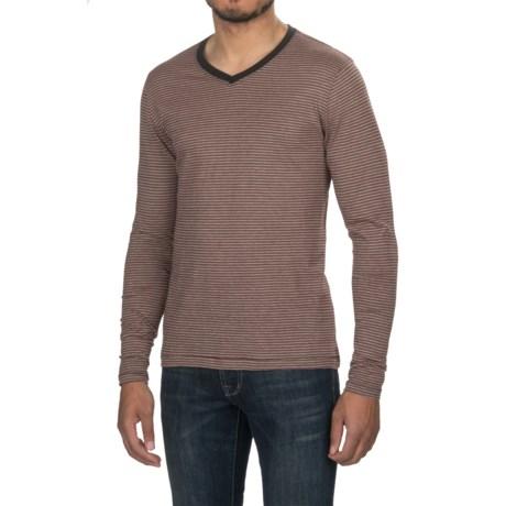 Jeremiah Prescott Twist Yarn Shirt - V-Neck, Long Sleeve (For Men) in Red Velvet