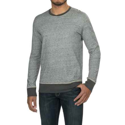 Jeremiah Russell Cotton Crew Neck Shirt - Long Sleeve (For Men) in Mushroom - Closeouts