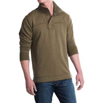 Jeremiah Taylor Button-Neck Shirt - Long Sleeve (For Men) in Canteen Heather - Closeouts