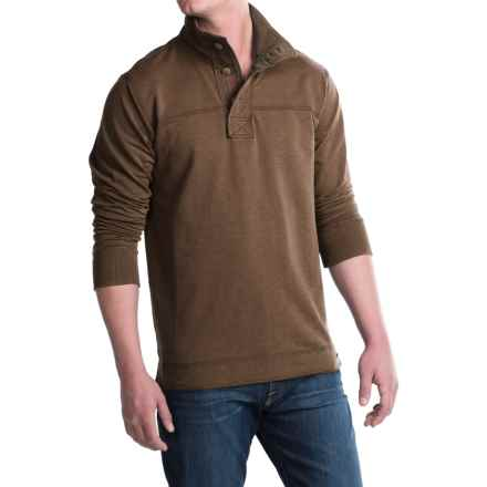 Jeremiah Taylor Button-Neck Shirt - Long Sleeve (For Men) in Mole Heather - Closeouts