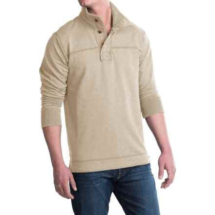 Jeremiah Taylor Button-Neck Shirt - Long Sleeve (For Men) in Oatmeal Heather - Closeouts