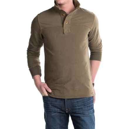 Jeremiah Taylor Button-Neck Shirt - Long Sleeve (For Men) in Peat - Closeouts