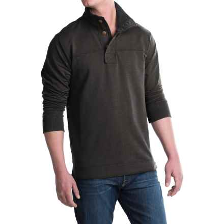 Jeremiah Taylor Button-Neck Shirt - Long Sleeve (For Men) in Phantom Heather - Closeouts