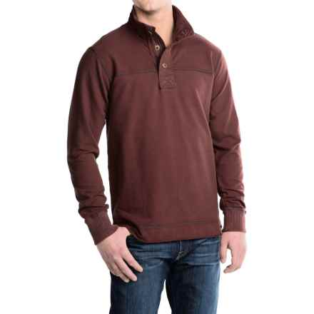 Jeremiah Taylor Pullover Shirt - Mock Neck, Long Sleeve (For Men) in Burgundy - Closeouts