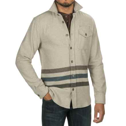 Jeremiah Trenton Striped Shirt - Long Sleeve (For Men) in Donkey Heather - Closeouts