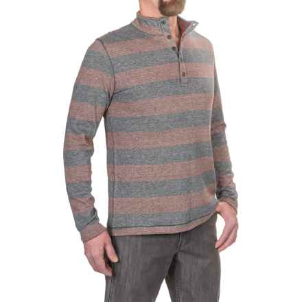 Jeremiah Victor Mock Neck Henley Shirt - Long Sleeve (For Men) in Burgundy - Closeouts