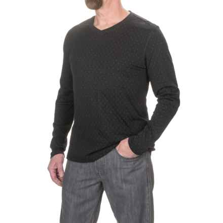 Jeremiah Webb Reversible Jacquard Shirt - V-Neck, Long Sleeve (For Men) in Black - Closeouts