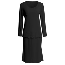 Jersey Knit Shirt and Skirt Set - Long Sleeve (For Women) in Black - 2nds