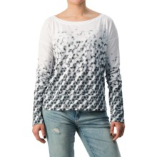 Jersey-Knit Shirt - Long Sleeve (For Women) in White - 2nds