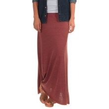 Jersey Maxi Skirt (For Women) in Burgandy - 2nds