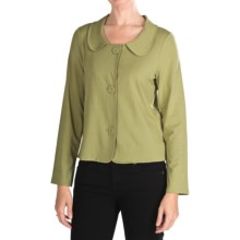 Jersey Portrait Collar Jacket (For Women) in Sage - 2nds