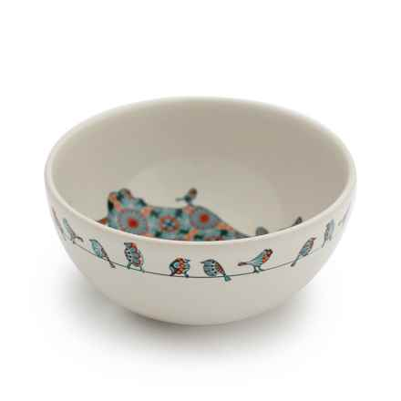 """Jersey Pottery Bessie and Lily Ceramic Bowl - 6.5"""" in Lily - Closeouts"""