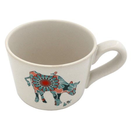 Jersey Pottery Bessie and Lily Ceramic Espresso Cup - 4 fl.oz. in Lily