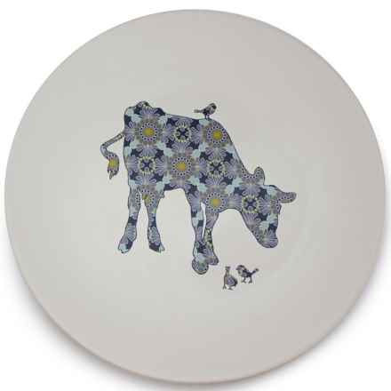 """Jersey Pottery Bessie and Lily Ceramic Platter - 13.5"""" in Bessie - Closeouts"""