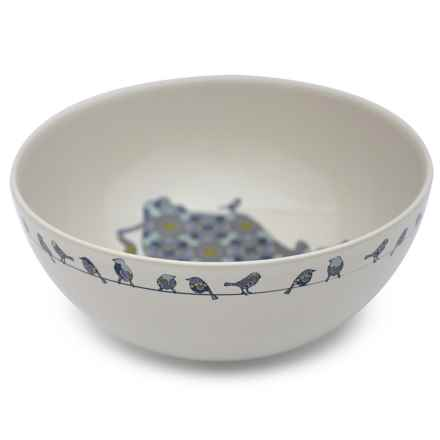"""Jersey Pottery Bessie and Lily Ceramic Salad Bowl - 10"""" in Bessie - Closeouts"""