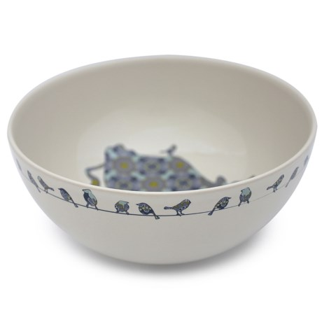 "Jersey Pottery Bessie and Lily Ceramic Salad Bowl - 10"" in Bessie"