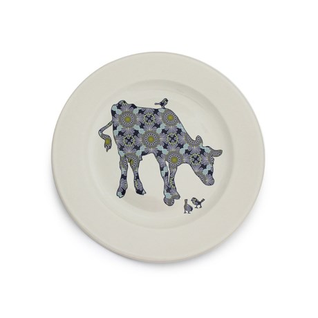 """Jersey Pottery Bessie and Lily Ceramic Salad Plate - 8-1/2"""" in Bessie"""