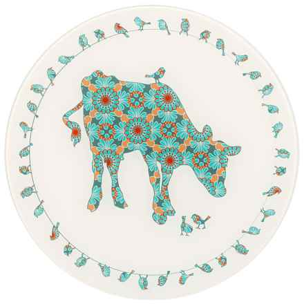"""Jersey Pottery Bessie and Lily Glass Platter - 12"""" in Lily - Closeouts"""
