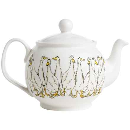 Jersey Pottery Quacky Duck Ceramic Teapot - 8-Cup in Quackers - Closeouts