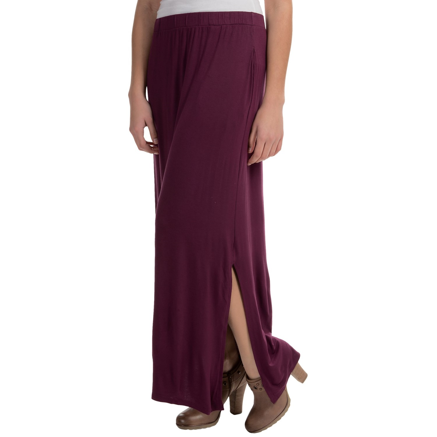 jersey stretch maxi skirt with pockets for save 78