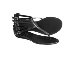 Jessica Simpson Danson Sandals - Leather (For Women) in Black - Closeouts