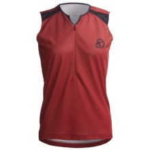 Jett Ride Cycling Jersey - Zip Neck, Sleeveless (For Women) in Red - Closeouts