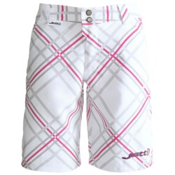 Jett Ride Mountain Bike Shorts - Liner Shorts (For Women) in White Plaid