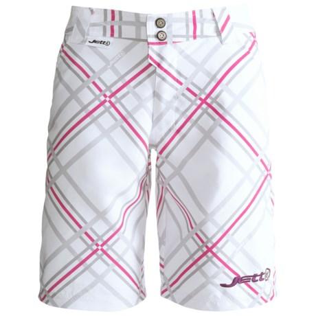 Jett Ride Mountain Bike Shorts - Liner Shorts (For Women) in White Plaid