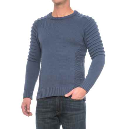 J.G. Glover & CO. Barlow Sweater - Merino Wool (For Men) in Denim - Closeouts