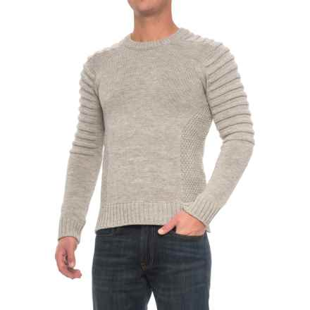 J.G. Glover & CO. Barlow Sweater - Merino Wool (For Men) in Light Grey - Closeouts