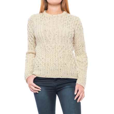 J.G. Glover & CO. Peregrine Aran Sweater - Wool (For Women) in Aran Nep - Closeouts