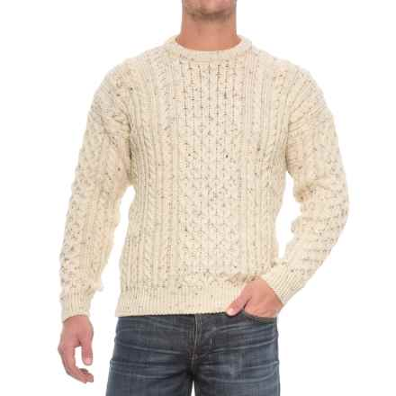 J.G. Glover & CO. Peregrine Aran Wool Sweater (For Men) in Aran Nep - Closeouts