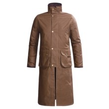 J.G. Glover Hampton Long Coat - Dry Waxed Cotton (For Men) in Light Brown - Closeouts